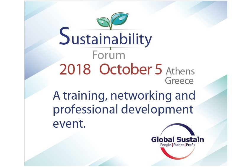 Global Sustain announces Sustainability Forum 2018 in Athens